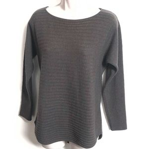 Charter Club 100% cashmere ribbed gray sweater